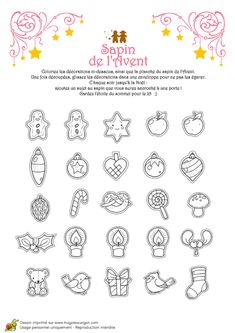 Coloriage noel tendresse sapin de l avent decoration