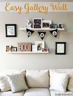 Easy 20 Minute Gallery Wall Idea