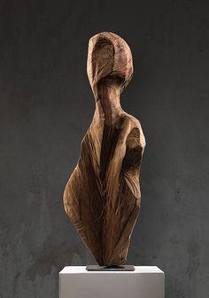 Modern Sculpture, Wood Sculpture, Driftwood Art, Art Graphique, Woodcarving, Logs, Metal Art, Figurative, Modern Art
