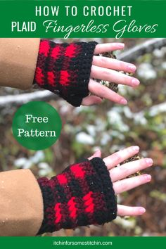 These Simply Chic Fingerless Gloves are designed with the eye-catching plaid stitch. You are sure to turn heads in this beautiful winter accessory! Use the colors and/or embellish with buttons of your choice to create a fabulous pair of gloves that is as stylish and unique as you!