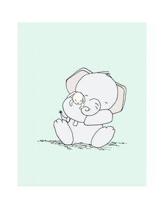 Elephant Nursery Art Snuggles Elephant and by SweetMelodyDesigns, $20.00 Elephant Nursery Art, Bunny Nursery, Star Nursery, Elephant Love, Nursery Wall Art, Nursery Decor, Dibujos Baby Shower, Baby Elefant, Art Mignon