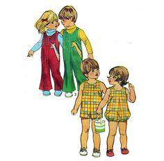 70s Toddler Jumpsuit Bubblesuit Romper Playsuit by HoneymoonBus, $8.99