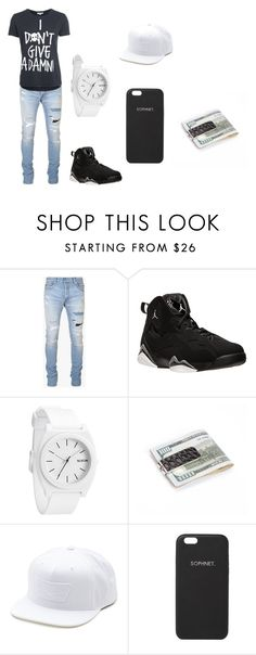 """""""i dont give a damn"""" by tkaigibson-1 on Polyvore featuring Balmain, NIKE, Nixon, Royce Leather, Vans, Sophnet., men's fashion and menswear"""