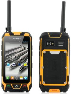 The Rugged Android Phone with 4.5 Inch screen, GPS, Walkie Talkie, Laser Light, Compass and more. This phone is built like a tank.
