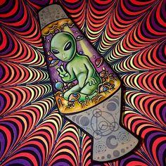 Resultado de imagen de trippy alien drawings