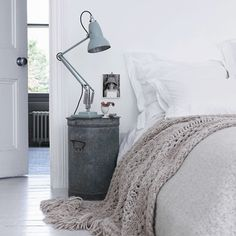 Not only is the soft #colourpalette to die for.... but the ingenious re-purposed bedside table #somepeoplearesoclever!