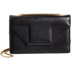 Saint Laurent Mini Betty Bag ($1,790) ❤ liked on Polyvore featuring bags, handbags, shoulder bags, black, bolsas, sacs, genuine leather handbags, chain strap purse, mini shoulder bag and leather purse