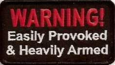 Warning Easily Provoked Embroidered Biker Vest Patch | eBay