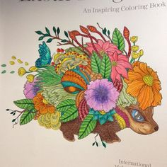 My little #creature from #exotickingdom by #Martywoods that kind of looks like a fantasy chia pet. #colors #colorful #coloring #adultcoloring #coloringtherapy #creativeoutlet #chiapet #fantasyworld