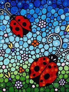 Joyful Ladies - Ladybug Painting Art