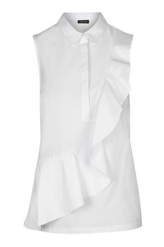 Short Sleeve Ruffle Shirt - Tops - Clothing - Topshop Europe