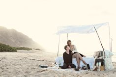 Beach Bedroom Engagement Shoot