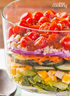 Layered Quinoa Salad #recipe