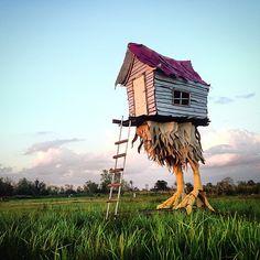 Baba Yaga's House By Walker Babington from facebook