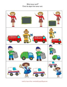 community helpers printables | Preschool Printables: Helper's in the Community Printable