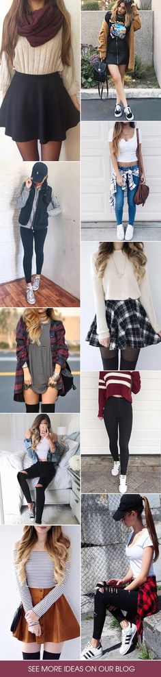 Looking for cute outfits for school this fall? We have gathered some of the hottest looks for back to school 2017 for a cool image every girl will love!