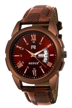 Redux Analogue Brown Dial Men's & Boy's Watch Watch Information Band Colour brown Band Material leather Brand REDUX Case Diameter 38 Millimeters Clasp Buckle Collection Casual Dial Colour brown Boys Watches, Best Watches For Men, Latest Watches, Wrist Watches, Brand Symbols, Black Slippers, Brown Band, Blue Band, Stylish Watches