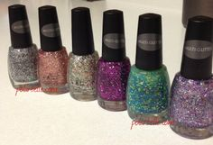 Sation Glitter Nail Polish - two reviews in the blog today!!