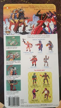 MOTU REPRO BUBBLE BLISTER RIO BLAST MASTERS OF THE UNIVERSE | Juguetes, Figuras de acción, TV, cine y videojuegos | eBay! Fisher Price Toys, Universe Art, 80s Kids, Marvel Legends, Old Toys, Back In The Day, Tmnt, Science Fiction, 1980s