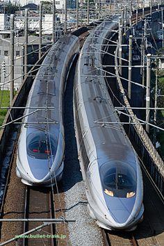 山陽新幹線 500系  「のぞみ」「こだま」 相生~岡山(岡山県) Electric Locomotive, Steam Locomotive, Japan Train, High Speed Rail, Rail Transport, Okayama, Light Rail, Rolling Stock, Train Tracks