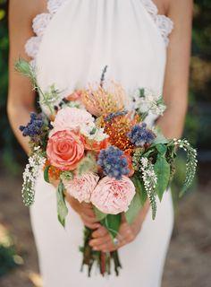 rustic fall wedding bouquet   Photo by Michael Radford