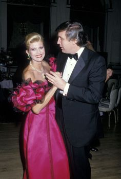 Ivana Trump and Donald Trump during 2nd Annual Manhattan Awards May 18 1988 at Plaza Hotel in New York City New York United States