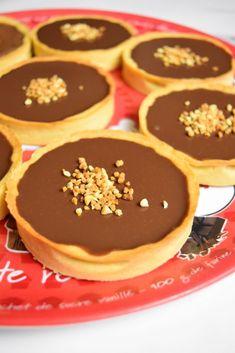 Tartelette Chocolat Caramel, Pancakes, Pie, Pudding, Sweets, Sugar, Snacks, Cookies, Breakfast