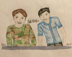 Dan and Phil- Finished coloring! I love it :) I sound such show off-ish. Sorry ;-; ~By Ash @AshCrashs