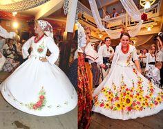Poland: handpainted weddng dress from the region of Podhale Plan My Wedding, Wedding Bride, Wedding Events, Wedding Ideas, Polish Wedding Traditions, Bridal Gowns, Wedding Gowns, Wedding Outfits, European Wedding