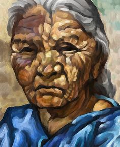 Native American Female Portrait Painting