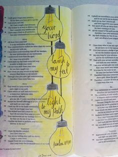 _______________________________________________ Here is my bible journaling of week 5 and 6 of the Love God Greatly Psalm 119 study. Bible Study Journal, Scripture Study, Bible Art, Bible Journaling For Beginners, Bible Drawing, Bible Doodling, Bible Prayers, Bible Scriptures, Jesus Bible