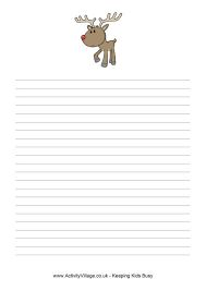 printable christmas writing paper
