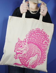 Pink Squirrel tote – must have this!!