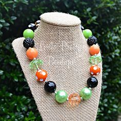 Halloween Bubblegum Necklace by LittlePrettiesBoutiq