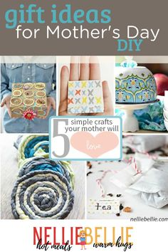Do it your self Mother's Day Gifts she is sure to love. These are all simple to make and easy to gift. go make these 5 different ideas to make this Mother's day memorable. #mothersday #DIYgifts Simple Gifts, Easy Gifts, Unique Gifts, Mothers Day Crafts, Mother Day Gifts, Diy Tea Bags, Mother's Day Diy, How To Make Tshirts, How To Make Tea