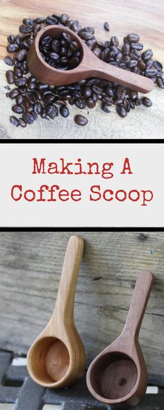 Learn step-by-step how to make a beautiful coffee scoop made out of wood. These will look great in your kitchen.