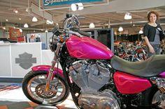Pink Harley Davidson Motorcycle   hot pink Harley-Davidson Sportster 883 for sale at Signature Harley ...