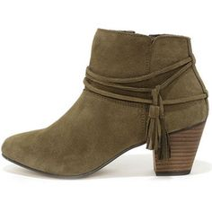 Chelsea Crew Bash Khaki Suede Leather Booties