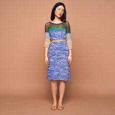 Material Mix knit dress, cobalt, grey, green, dark grey, camel SABRINA WEIGT…