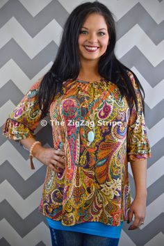 Florence Ruffle Sleeve Tunic – The ZigZag Stripe. Save 10% on every order with coupon code ZZS72, and shipping is free! zigzagstripe.com
