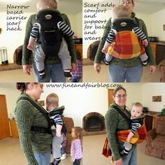 Narrow Based Carrier Scarf Hack. Turn a crotch dangler into an ergonomic carrier to protect your baby's hips