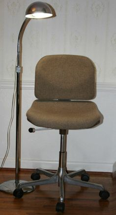 vintage industrial cole steel office chair vinyl upholstery office