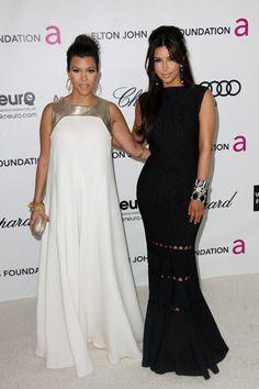 Girls night! Heidi Klum, Kourtney and Kim Kardashian spotted at Elton Johns Oscar bash
