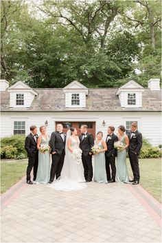 wedding party in mint and black smiles with bride and groom | Romantic summer wedding at The English Manor in Ocean, NJ photographed by New Jersey wedding photographer Idalia Photography. See more ideas for a classic wedding day here! #IdaliaPhotography #EnglishManorWedding #ClassicWedding Wedding Gallery, Wedding Photos, Nj Wedding Venues, Pronovias Wedding Dress, English Manor, Church Ceremony, Bridal Parties, Intimate Weddings, Summer Wedding