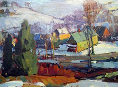 January 30, 2013 Close Look At Aldro Hibbard's Winter Paintings Sold at the James D. Julia Art Auction! John Gale's collection.   Plein Aire in Maine