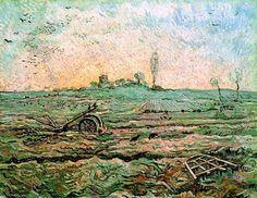 Vincent van Gogh, the Harrow after Millet on ArtStack #vincent-van-gogh #art