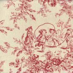 Tissu toile de jouy *****60 x50cms**