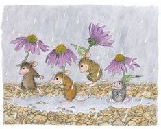 "Monica, Mudpie, Maxwell and Muzzy featured on The Daily Squeek® for October 28th, 2014. Click on the image to see it on a bunch of really ""Mice"" products."