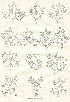 1800's-Alphabet-Typography-Fonts-Royalty Free-Antique Graphics-via-http://knickoftimeinteriors.blogspot.com/