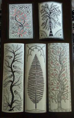 39 Best Ideas For Screen Printing Ink Diy Art Painting, Indian Art Paintings, Tribal Art, Madhubani Art, Drawings, Madhubani Painting, Tree House Drawing, Folk Art Painting, Kalamkari Painting